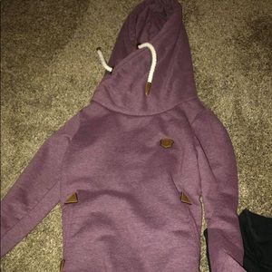 Xs purple Naketano hoodie